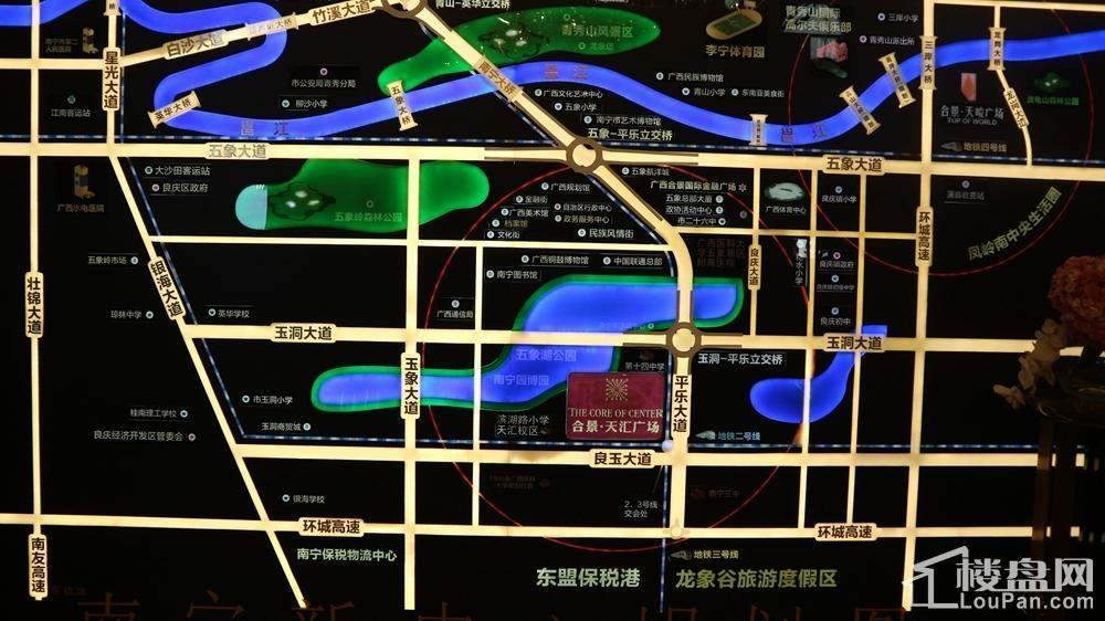 合景天汇广场位置图-坐享五象核心配套
