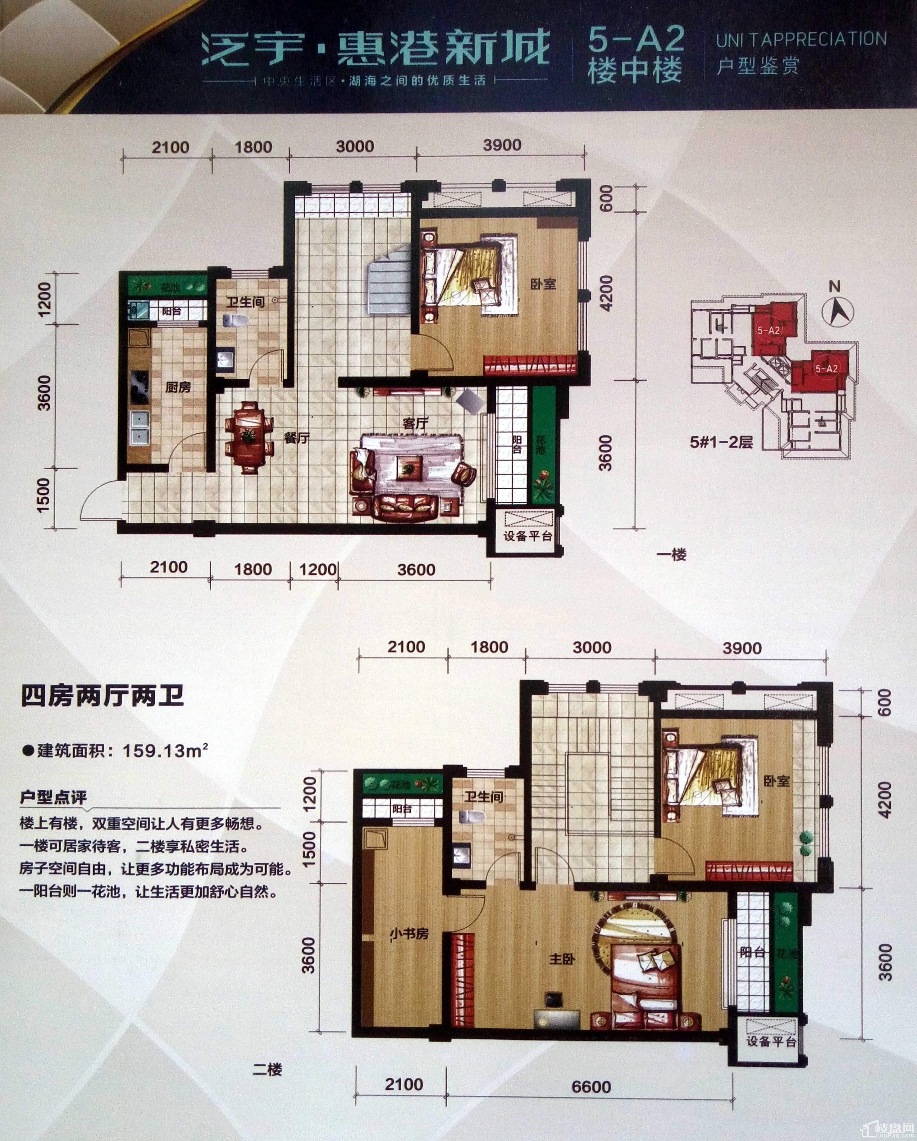 泛宇·惠港新城5-A2户型.楼中楼