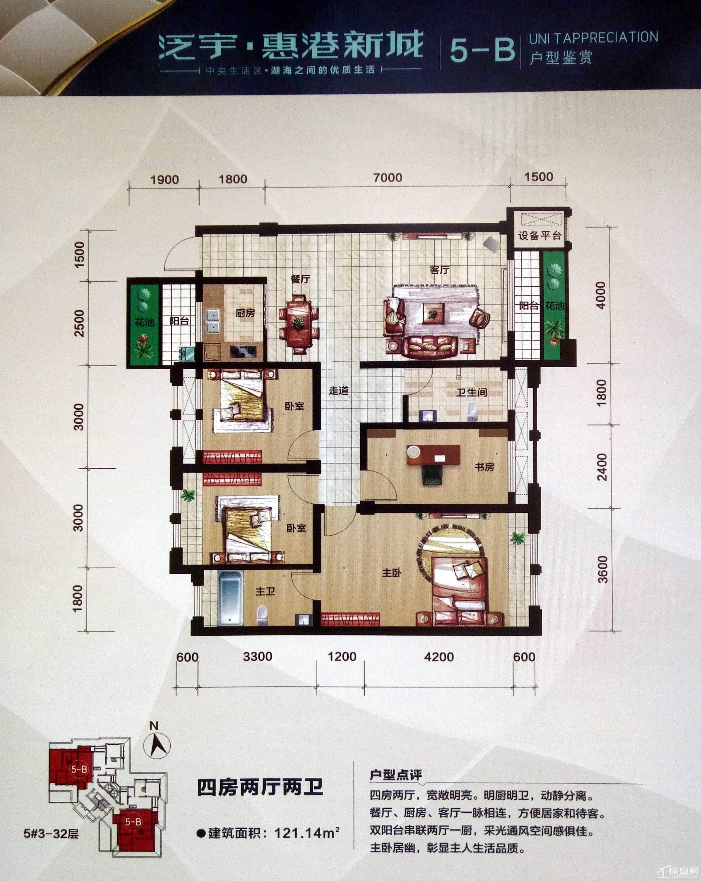 泛宇·惠港新城5-B户型.