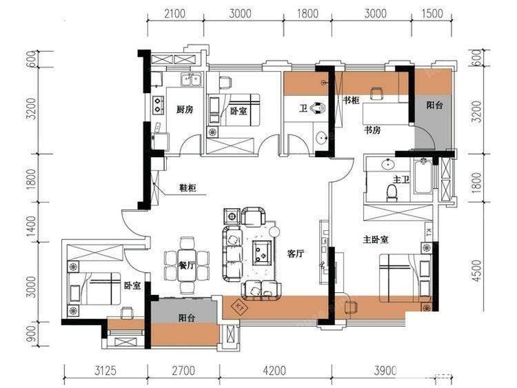 天元涉外景园C8栋-03户型