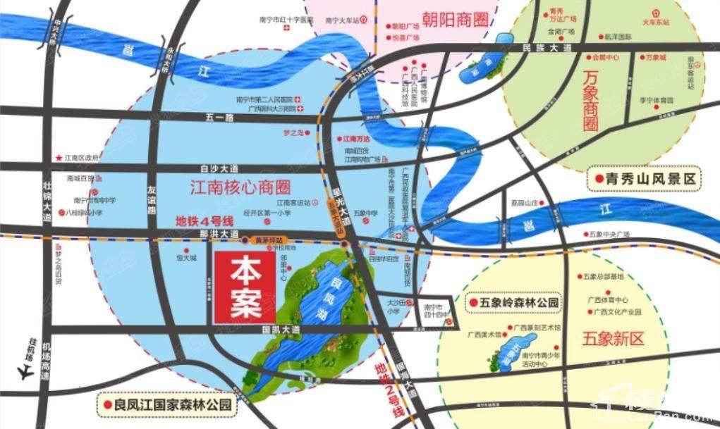 昌泰茗城项目区位图