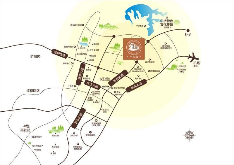 大学城平安街位置图