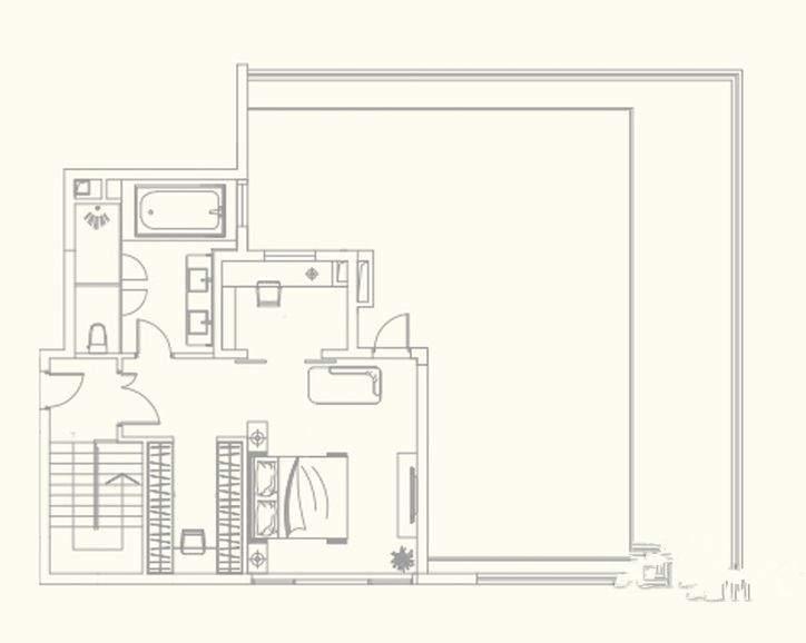 1座2001单元复式(上)户型
