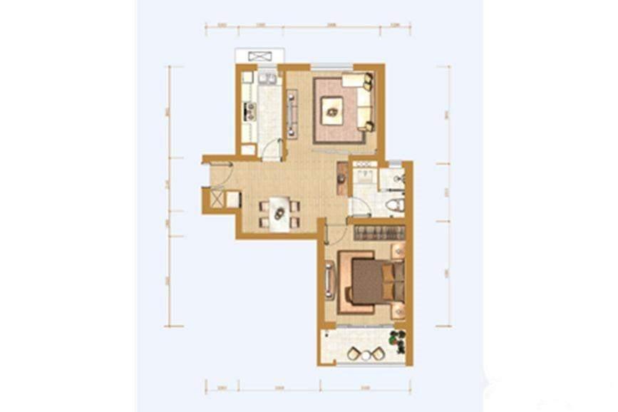 79平一房户型