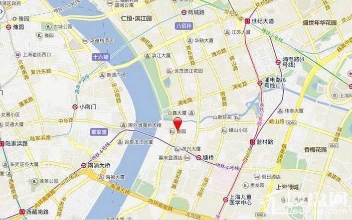 九龙仓滨江壹十八位置图