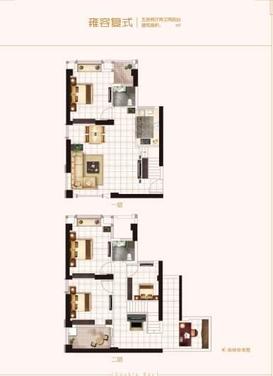 五房复式户型图
