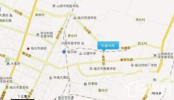 东盛华庭位置图