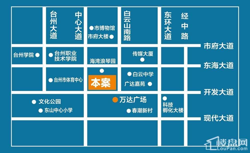 海淘城区位图