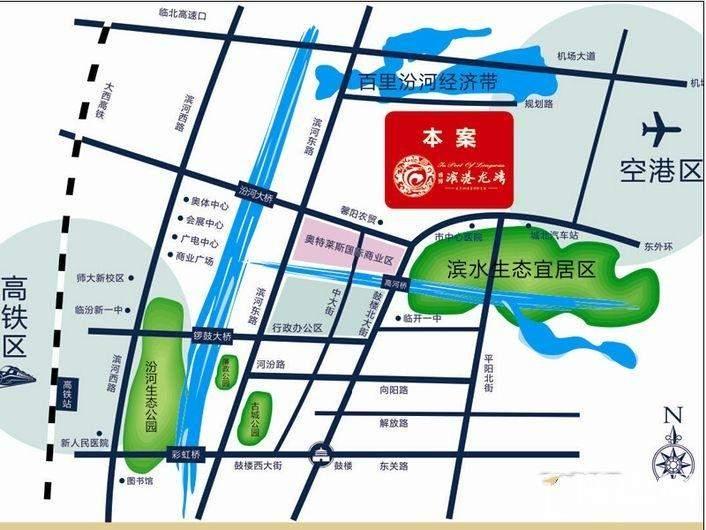 滨港龙湾位置图