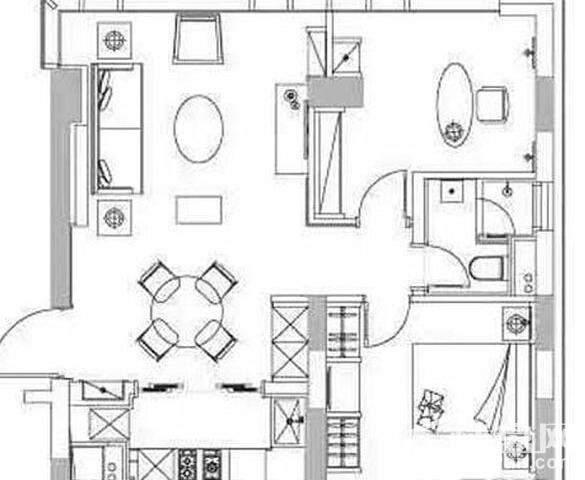 两房户型图