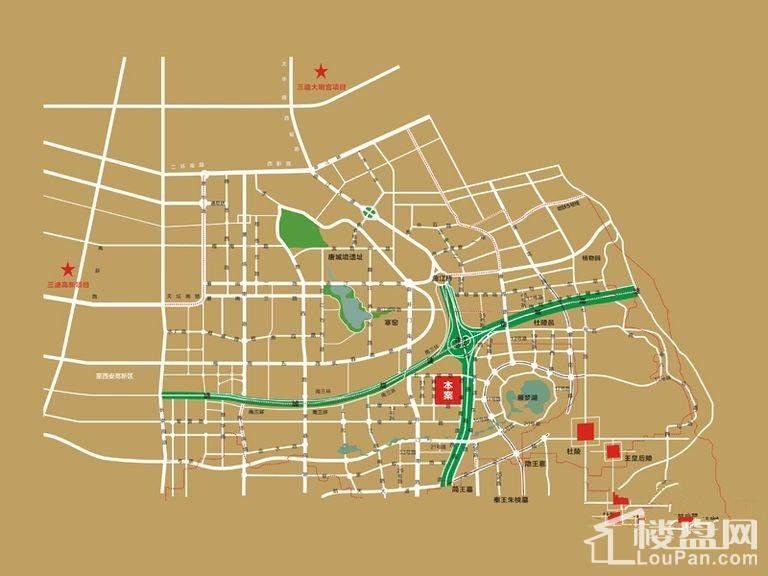 西安三迪枫丹位置图