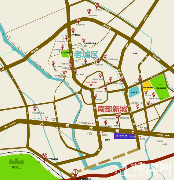 兴一广场·商铺位置图