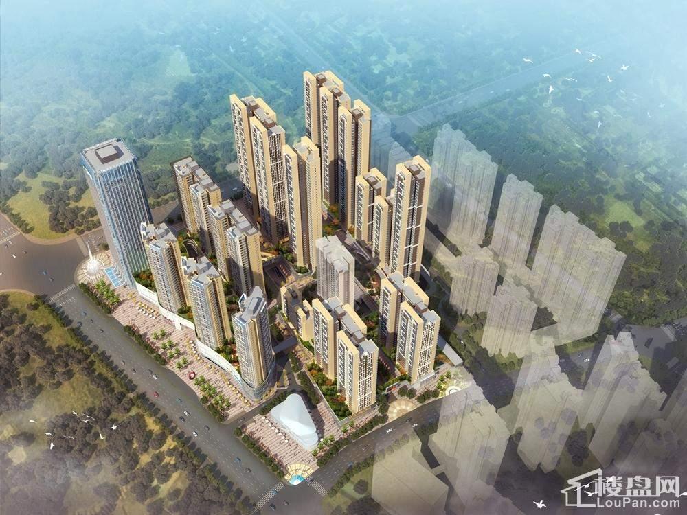 大唐天城项目鸟瞰图
