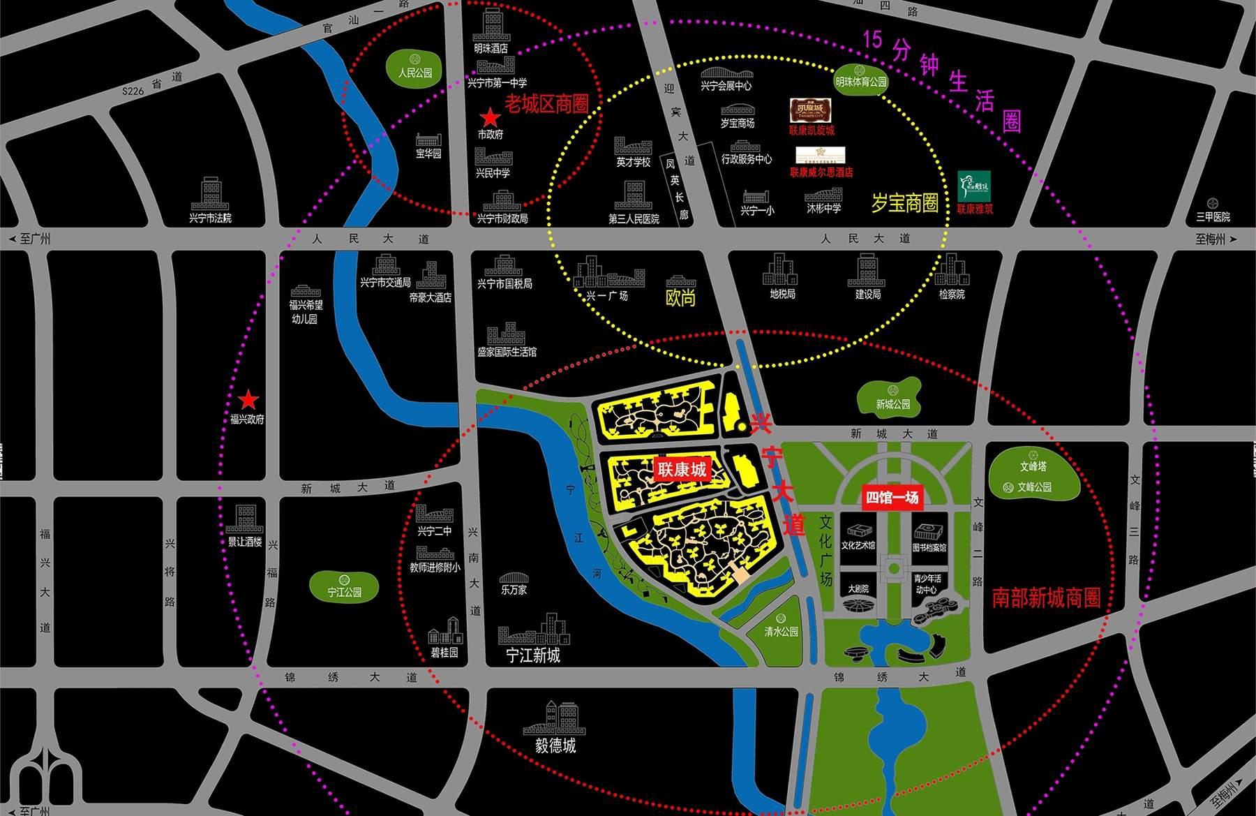 联康城位置图
