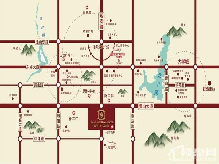 新威龙门悦府位置图