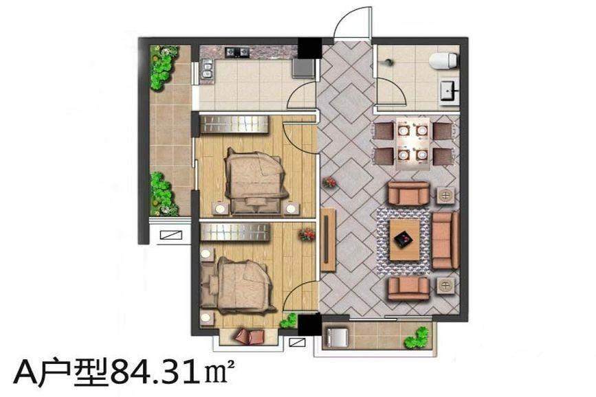 45号楼A1户型