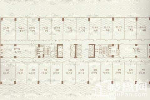 金地时代广场(公寓)户型图