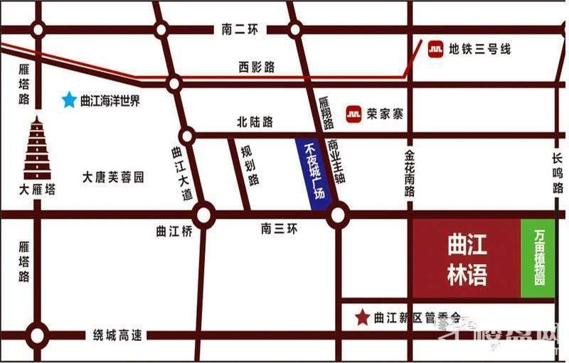 曲江林语位置图