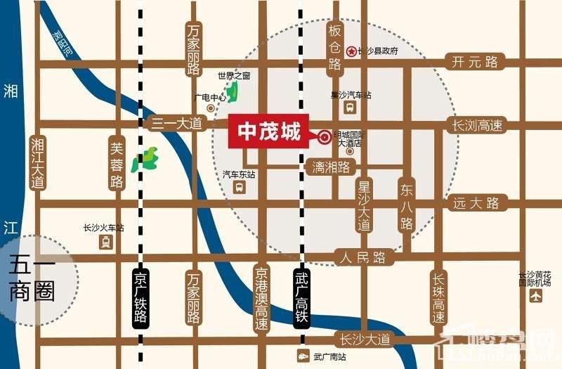 中茂城位置图