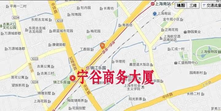 宁谷商务大厦位置图