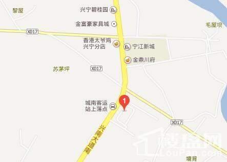 兴宁·毅德城位置图