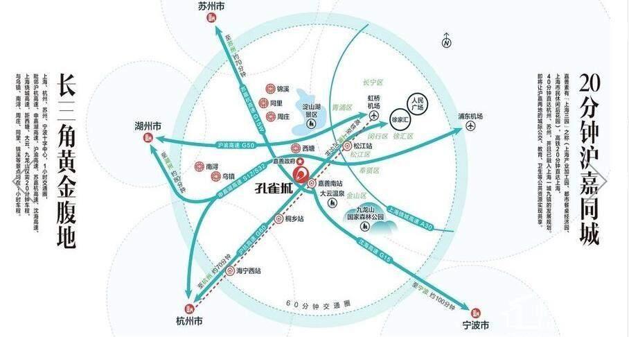 嘉兴新西塘孔雀城位置图