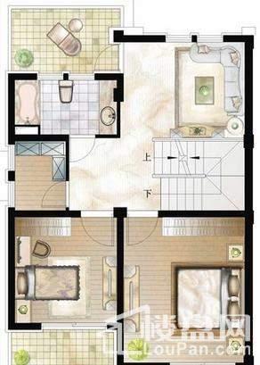 联排别墅户型图A1-2F