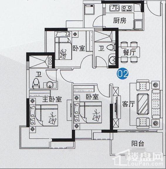 尚上名筑 户型图