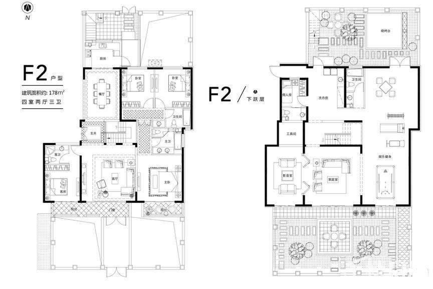 花园洋房F2首层户型