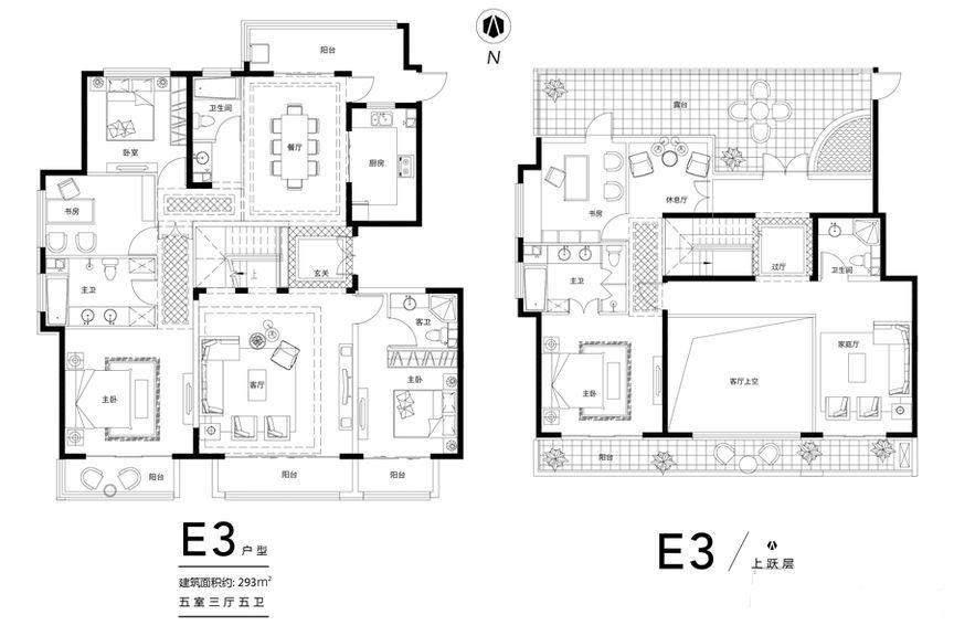 花园洋房E3顶层户型