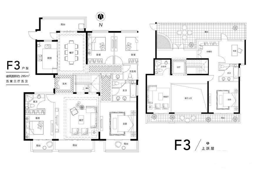 花园洋房F3顶层户型