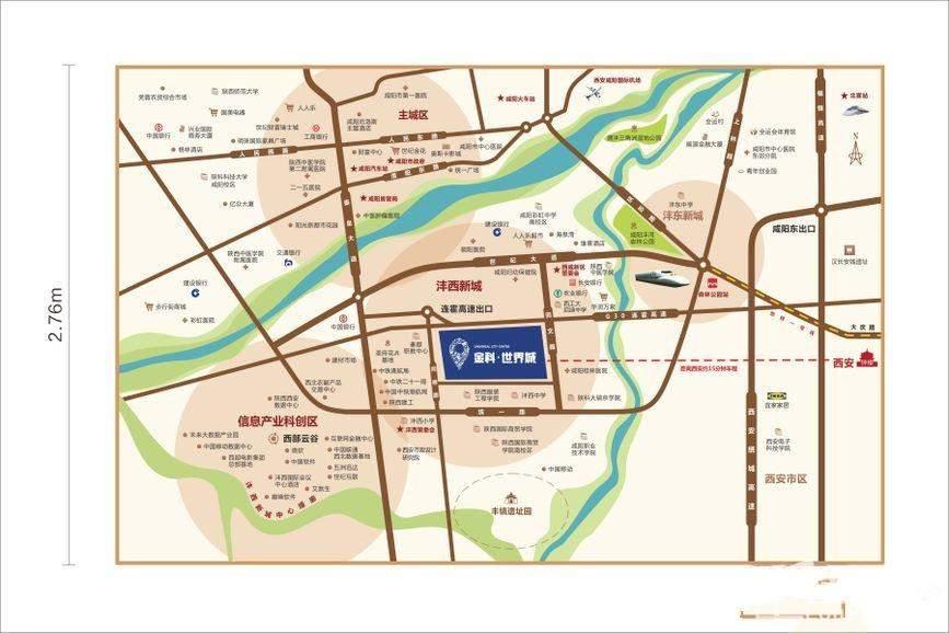 金科世界城位置图
