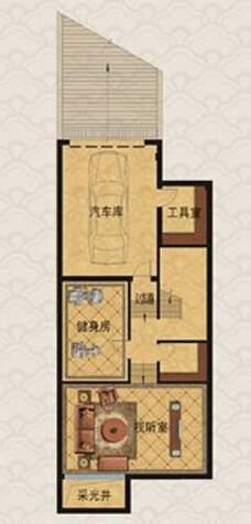 E1房型户型图地下