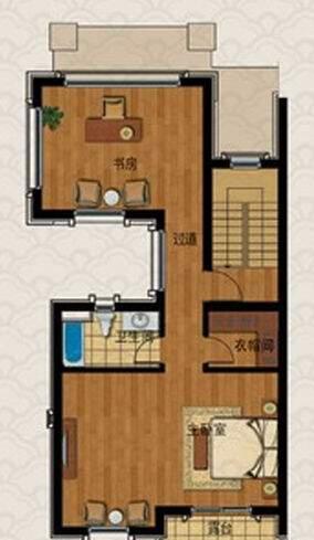 E1房型户型图三层