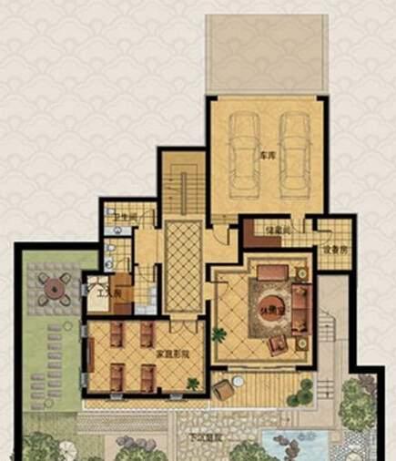 A房型户型图地下