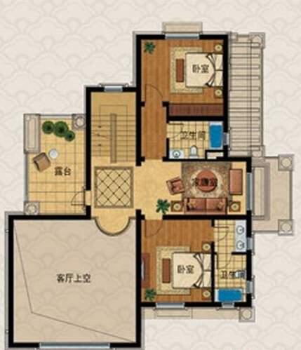 A房型户型图二层