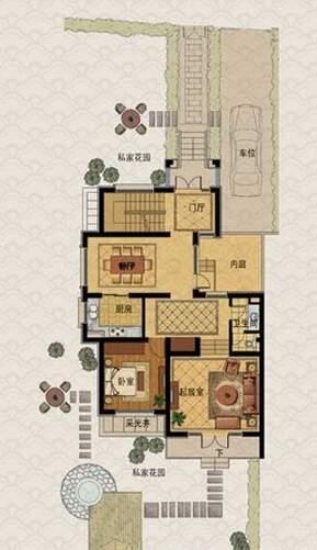 C房型户型图一层