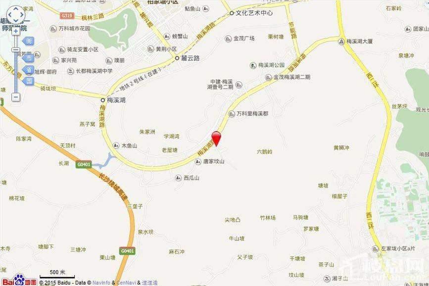 长房梅溪香山 位置图