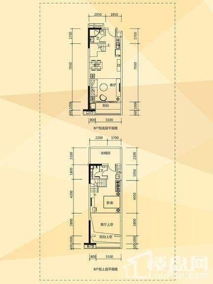 D1/D2栋酒店式公寓B户型