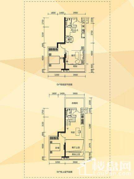D1/D2栋酒店式公寓D户型