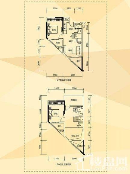 D1/D2栋酒店式公寓E户型