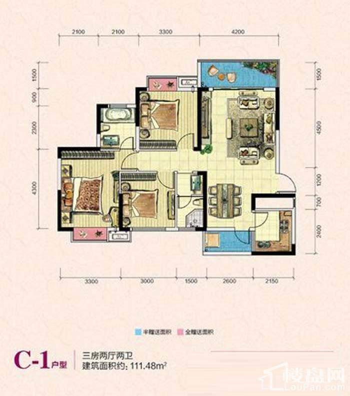 凯富南方鑫城C-1户型图