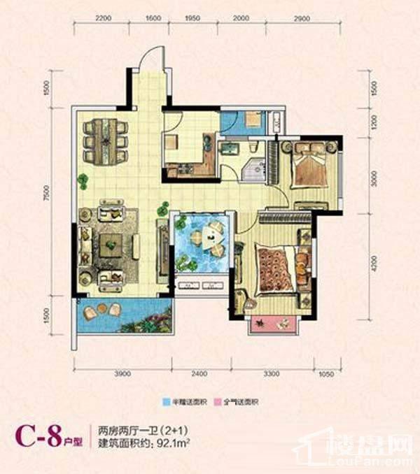 凯富南方鑫城C-8户型图