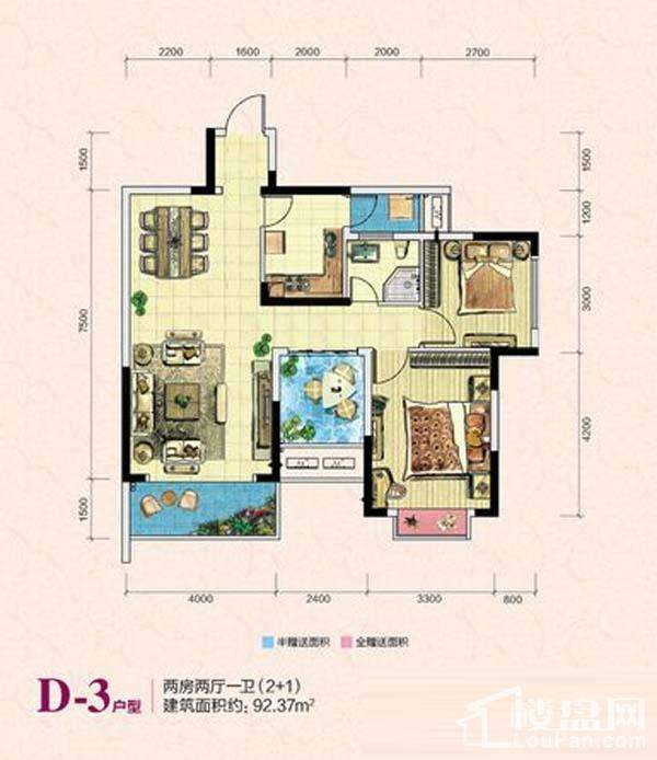 凯富南方鑫城D-3户型图
