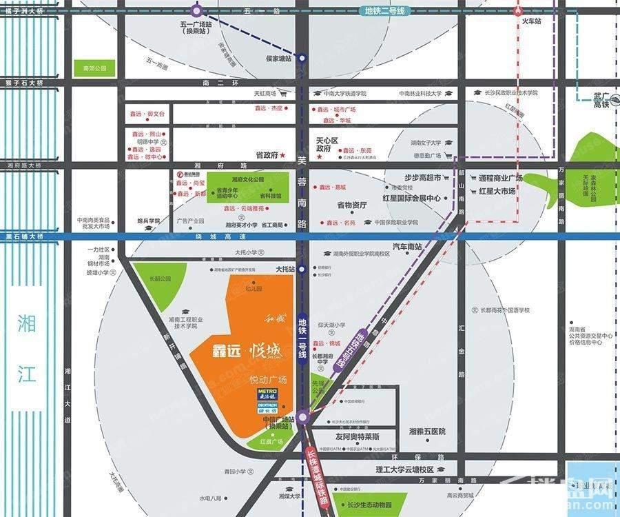 鑫远悦城位置图