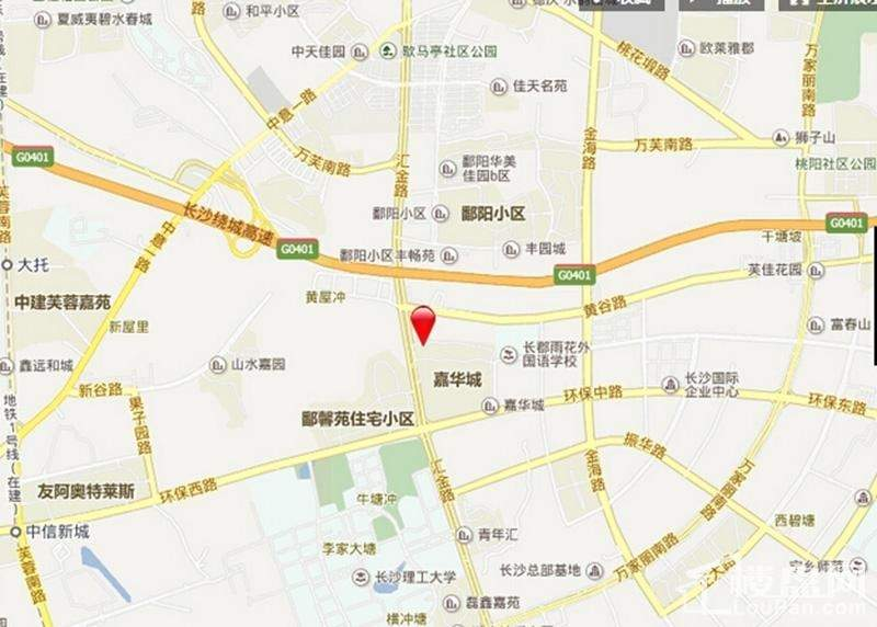 汇金城位置图