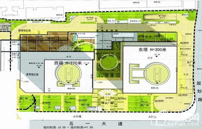 新楚擎天广场 位置图