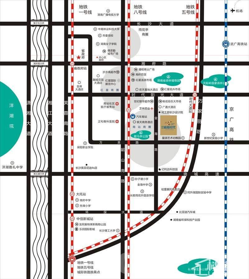 中豪城南时代区位交通图