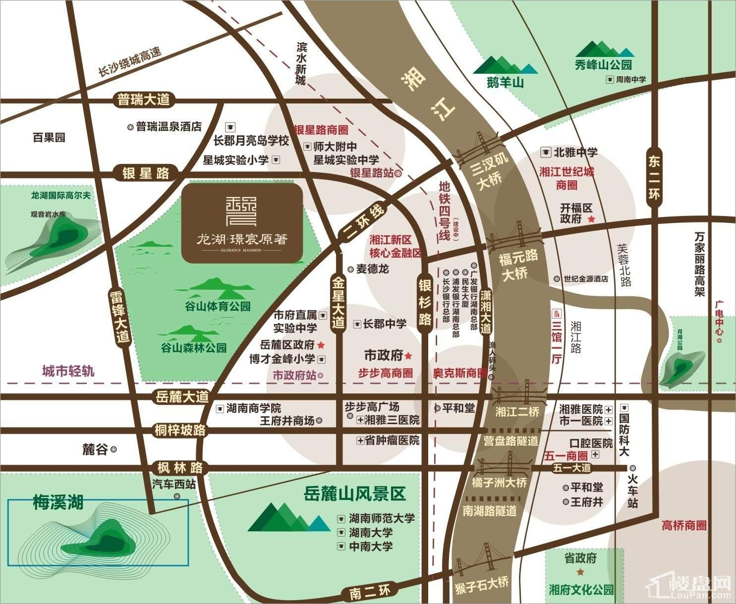 龙湖璟宸原著区位交通图