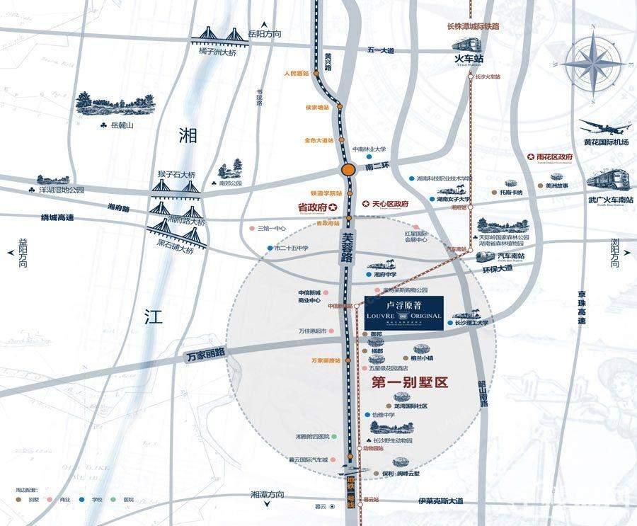 卢浮原著区位图